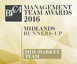BVCA Management Team Awards 2016: Midlands Runners-Up Mid-Market Team