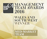 BVCA Management Team Awards 2016: Wales and South West Winner Mid-Market Team